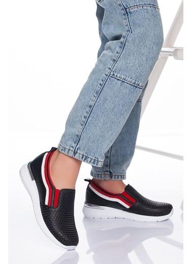 Derithy Hakiki Deri Sneaker Siyah